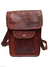 """9"""" Women Leather satchel Vintage Leather messenger Bag Shoulder Bag for i Pad"""