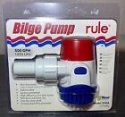 Rule 500 GPH Round Non-Automatic Bilge Pump 25DA NEW! NO RESERVE! photo