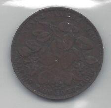 **1856**Nova Scotia One Penny Token, Coin Mart Graded**VF-30**