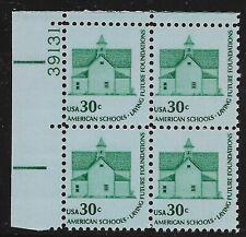US Scott #1606, Plate Block #39131 1979 Schools 30c FVF MNH Upper Left