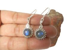 Round  LABRADORITE   Sterling  Silver  925  Gemstone  EARRINGS  -  Gift  Boxed