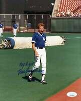 Dan Quisenberry Jsa Coa Autograph 8x10 Original Photo  Signed Authentic