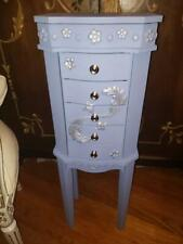 Jewelry Armoire Cabinet Chest Organizer Stand Holder Storage Box,blueberry mould