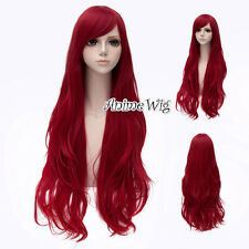Adult Princess Ariel Mermaid Big Wavy Curly Wig Cosplay Accessory Synthetic Hair