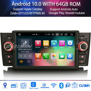 8-core Android 10.0 dab + autoradi for fiat punto linea carplay wifi freeview DSP tpms