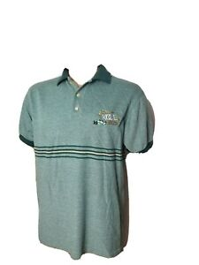 Vintage Team Kool Green Embroidered Racing Mens Polo Shirt IndyCar Formula One