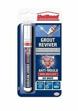 Grout Reviver Pen Unibond Antibacterial Easy Use Whitener Mould Touch Up Paint