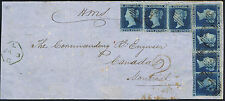 1841 2d Blue Pl 4 TD-TI and HB Chatham to Montreal Canada HMS charged 2 internal