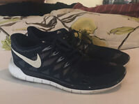 Mens Nike Free 5.0 2014 Navy Running Sneakers Shoes Size 14 642198-404