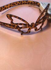 SCUNCI Brown Butterfly Plastic Headband