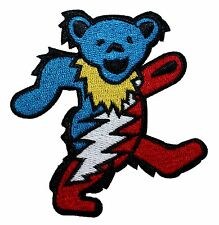 Grateful Dead Steal Your Face Dancing Bear Band Rock Icon Iron On Applique Patch