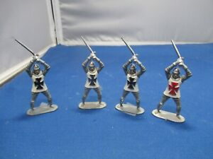 Four Crusader men at armsweilding swords by Timpo