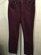 Jones New York 8 Short Jeans Slimming Eggplant Cotton Stretch New 190541