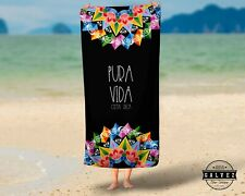 XL beach pool towel cotton costarican oxcart paint Pura Vida absorbant wholesale