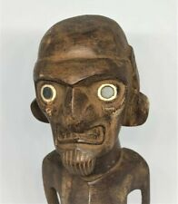 RARE OLD  EASTER ISLAND MALE FIGURE, MOAI KAVAKAVA, FROM THE EARLY 1900's