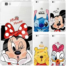 Disney Mickey Minnie Soft Clear Case Cover For HUAWEI P20 P8 P9 Lite 2017 P10