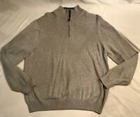 346 BROOKS BROTHERS Men's L Supima Cotton 1/4 Zip Pullover Sweater