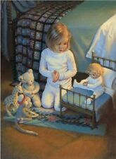 Kathy Lawrence THE LORD'S BLESSING Child's Prayer 14x11 double matted print