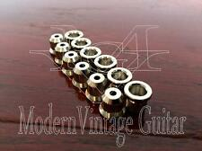 12 - Modern Vintage Guitar Body String Mounting Ferrules BIG LIP  NICKEL