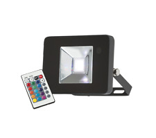 Knightsbridge Colour Changing Floodlight RGB LED Light IP65 With Remote 10W