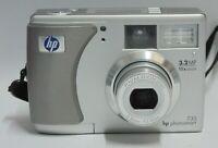 "HP PhotoSmart 735 Digital Camera 3.2MP 1.5"" 3x OZ 5x DZ Good Condition"