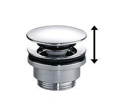 pop-up CLICK Ablaufventil universal für Waschtisch mit oder ohne Überlauf chrom