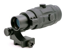 TMS 3x Magnifier Scope w/ 90Degree FTS Flip to Side Mount for Red Dot Sight 36mm