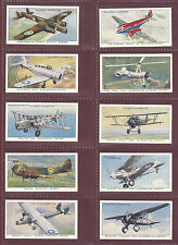 AEROPLANES -  JOHN PLAYER & SONS - SET OF 50 AIRCRAFT OF THE R.A.F. CARDS - 1938
