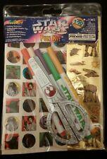 Vintage STAR WARS FUN KIT BY ROSEART Stickers Scissors Markers