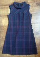 F&F navy blue checked dress, size 12, excellent used condition