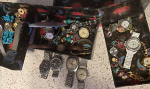 Seiko SQ Timex Dynabeat Electric Orvin Cronoal Arm Lot Tons Of Watches