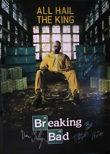 Bryan Cranston / Vince Giligan Signed BREAKING BAD 27x40  Poster Autograph
