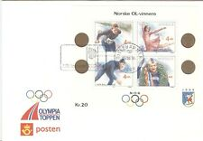 Norway Olympic Games 1994 2nd Olympic sheet with First Day cancel Lillehammer