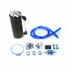 750ML ALUMINUM BILLET OIL RESERVOIR CATCH TANK CAN TURBO CHARGED NA BLACK