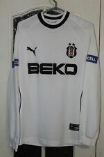Besiktas 2003 2004 Puma White Home Soccer Shirt Jersey Trikot Long Sleeve Turkey