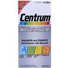 Centrum Advance Multivitamin and Multiminerals 100 Tablets