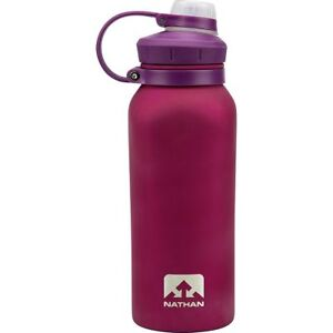 Nathan Hammerhead Insulated Stainless Steel Water Bottle, 18 oz, Sangria