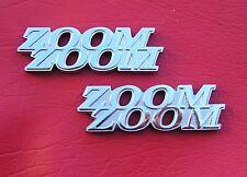 MAZDA ZOOM ZOOM PAIR CAR EMBLEMS Chrome Metal Badge *NEW & UNIQUE!* Custom 2 3 6