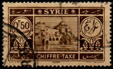 """Syria 1925, 0.5p brown """"Postage Due"""" stamp used."""