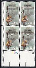 Sc# 2096 20 Cent Smokey Bear (1984) MNH PB/4 P# 8999-3 LL SCV $2.25