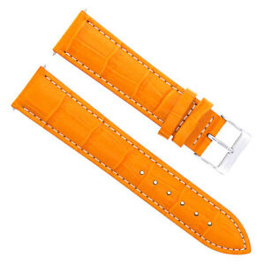 17-18-19-20-21-22-23-24MM LEATHER WATCH BAND STRAP FOR OMEGA W/STITCH