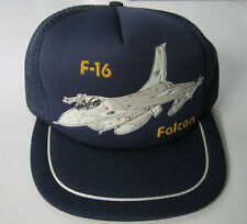 2 Dozen F-16 Falcon Aviation Caps Sonic Embossed Military Aircrat Hats Wholesale
