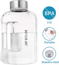 BOTTLED JOY Water Jug 2.5 L / 83 OZ Large Capacity Sports Water Bottle with Hand
