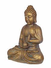 Deko Statue Skulptur Büste Buddha gold blau 48,8 cm edle Optik