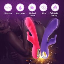 Heatable-Rabbit_Vibro-Dildo_2 Motor-10-Speed-G-Spot-Clitoral-Silicone-Waterproof