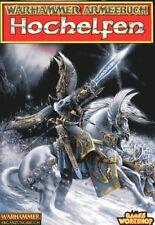 Warhammer armeebuch hochelfen (ergänzungsbuch para la fantasy-strategiespiel)