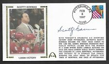 Scotty Bowman Autographed 1000 Wins Gateway Stamp Envelope Pittsburgh Postmark
