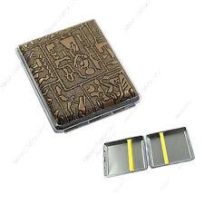 Fashion Egyptian Style Hard Metal Cigarette Box Case Holder 18 Cigarettes