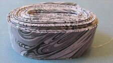 Quilt BINDING Single Fold #991 Marbelicious Black 5 yds Linear Cotton Fabric