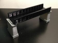 Outland Models Railroad Girder Bridge Black(for Single Track) with Piers Z Scale